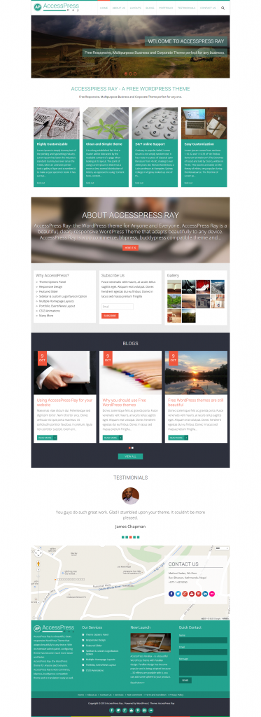 AccessPress Ray   Free WordPress Theme