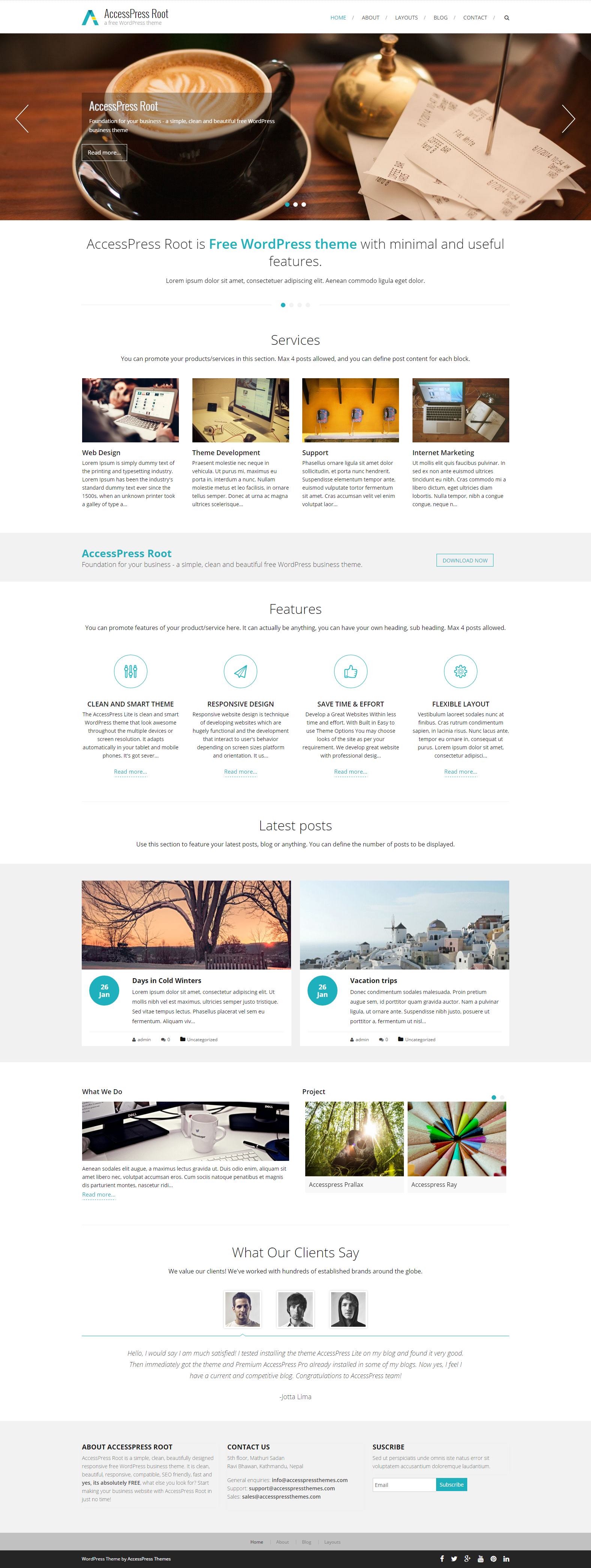 AccessPress Root   a free WordPress theme