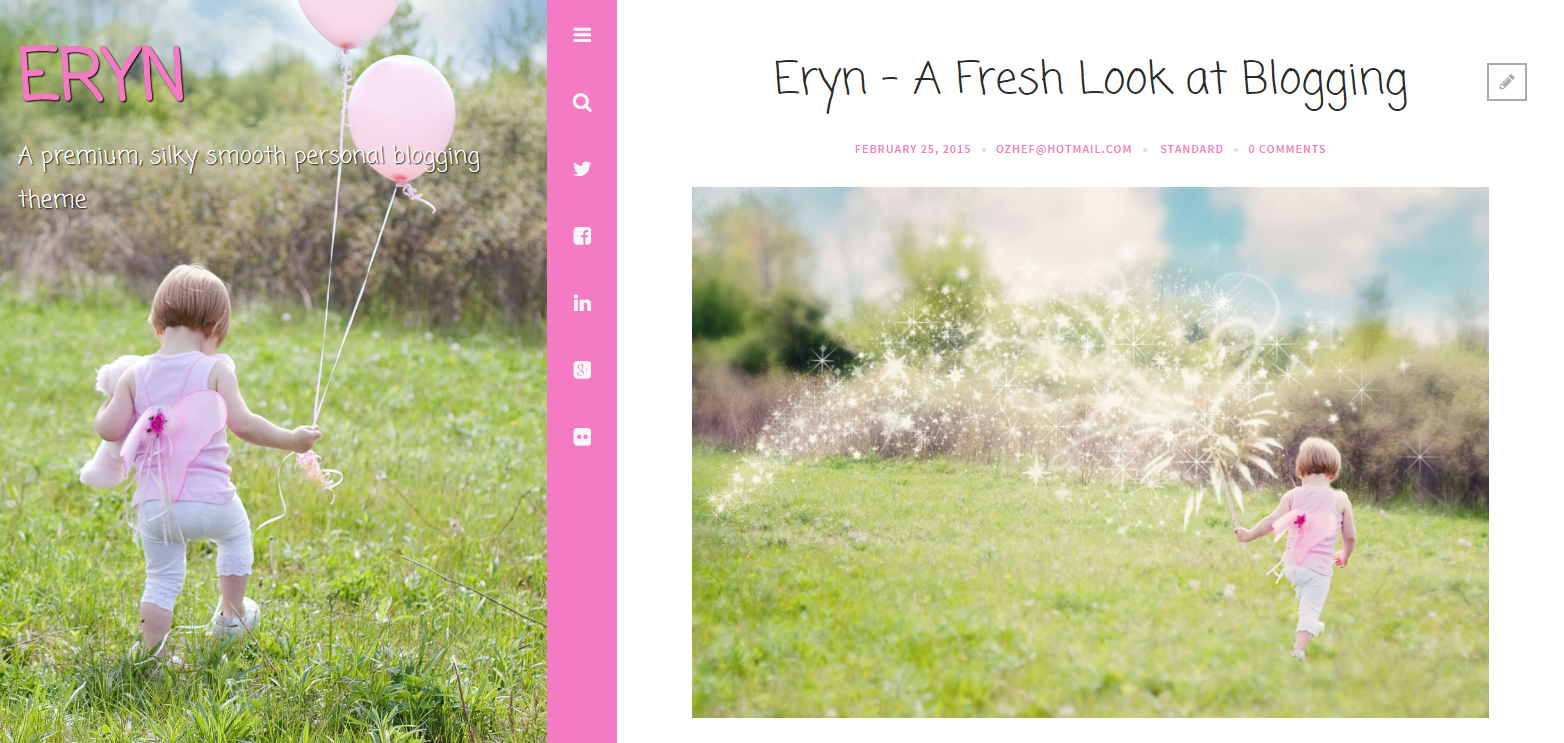 Eryn A premium silky smooth personal blogging theme