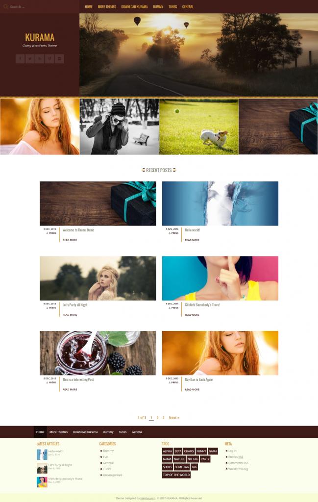 KURAMA – Classy WordPress Theme
